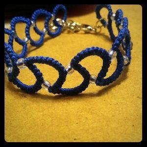 Jewelry - Blue shuttle tatted bracelet